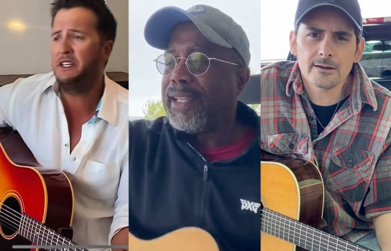 Luke Bryan, Darius Rucker and Brad Paisley; Photo Courtesy of CBS/ACM Presents: Our Country