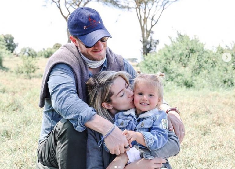Tyler Hubbard with Wife Hayley, and Daughter, Olivia; Photo via Instagram