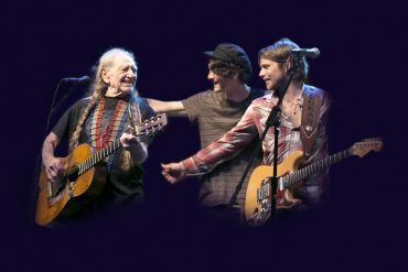 Willie, Micah, and Lukas Nelson; Photo by Janis Tillerson