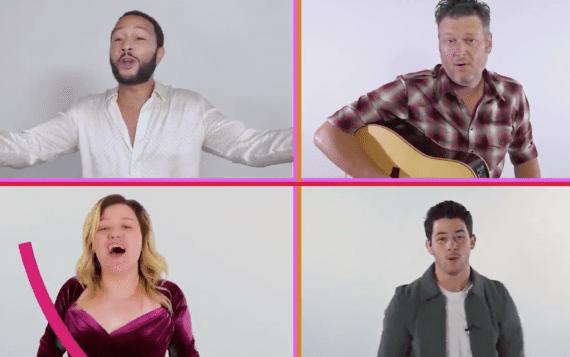 John Legend, Blake Shelton, Kelly Clarkson, Nick Jonas; Photo Courtesy The Voice