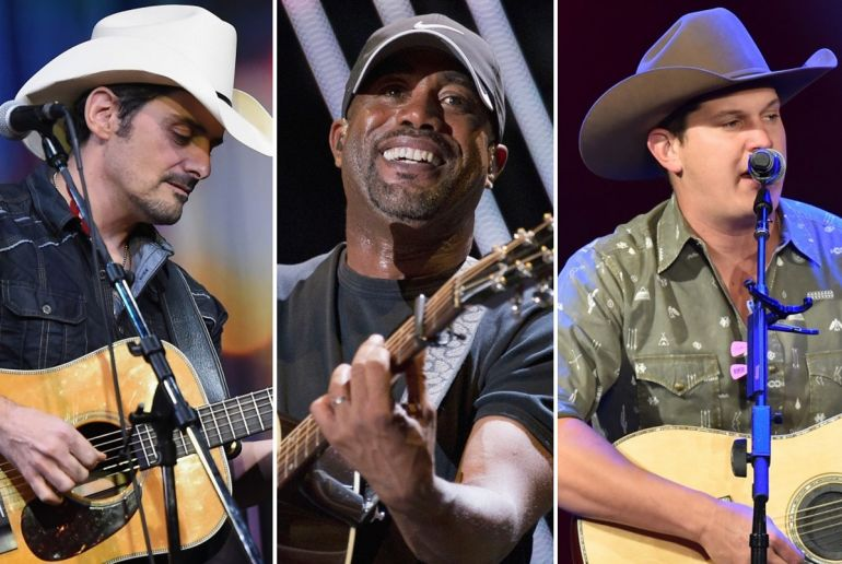 Brad Paisley; Photo by Rick Diamond/Getty Images for Outback Concerts, Darius Rucker; Photo by ABC/Jon LeMay, Jon Pardi; Photo by Aaron J. Thornton/Getty Images for RADIO.COM