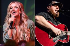 Carly Pearce; Photo by Terry Wyatt/Getty Images for Spotify, Luke Combs; Photo by Andrew Wendowski
