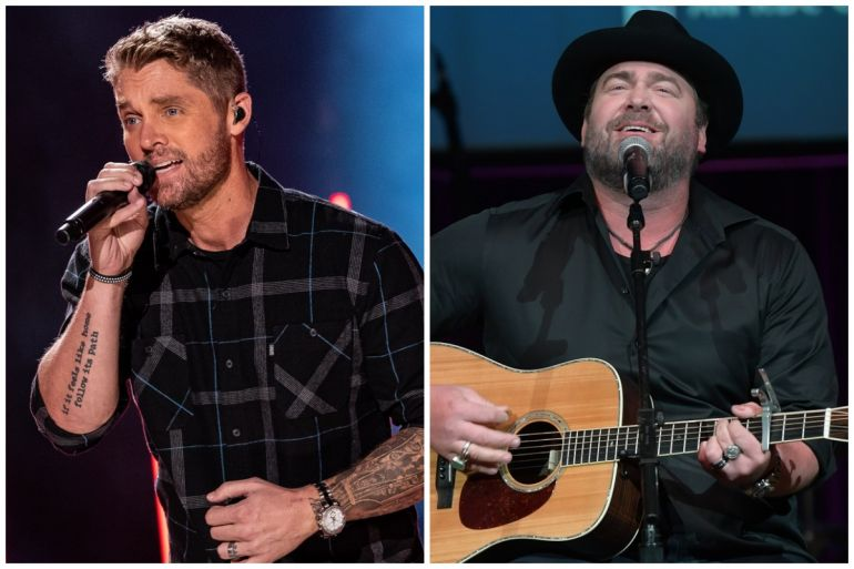Brett Young; Photo by Andrew Wendowski, Lee Brice; Photo by Jason Kempin/Getty Images