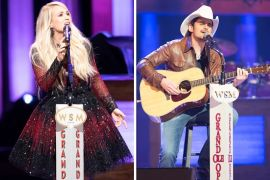 Carrie Underwood, Brad Paisley; Photos Courtesy Grand Ole Opry, Chris Hollo