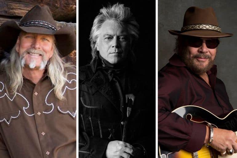 Dean Dillon, Marty Stuart and Hank Williams Jr.; Photos Courtesy CMA