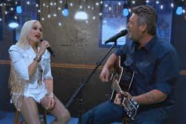 Blake Shelton and Gwen Stefani; Photo by CBS