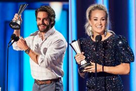 Thomas Rhett And Carrie Underwood; Photo by Brent Harrington/CBS