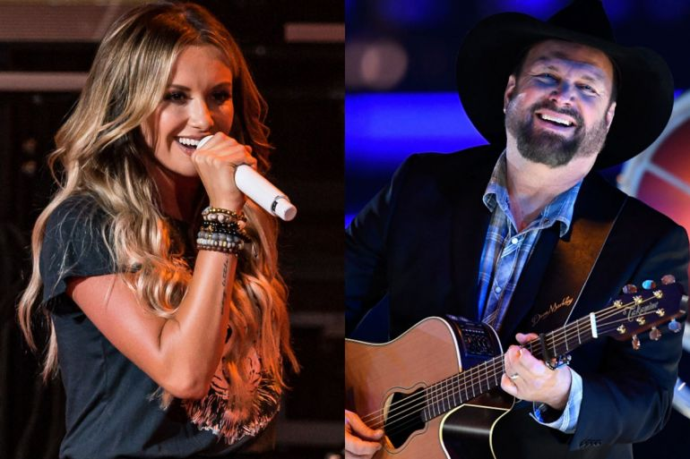 Carly Pearce; Photo by Andrew Wendowski, Garth Brooks; Photo by Terry Wyatt/Getty Images for Americana Music