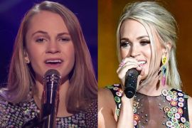 Kenadi Dodds; Photo Courtesy of NBC, Carrie Underwood; Photo by Erika Goldring/Getty Images for CMT