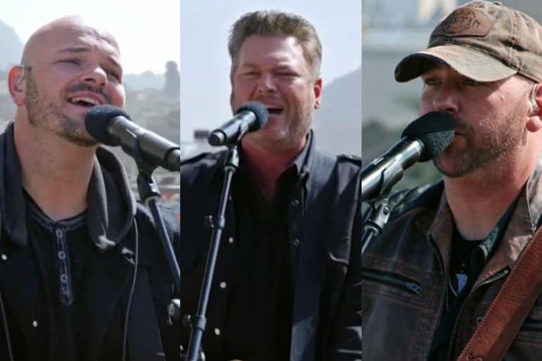 Blake Shelton and Broken Roots; Photo Courtesy of NBC