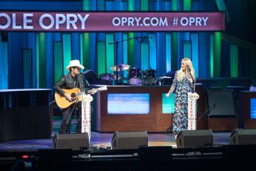 Brad Paisley, Carrie Underwood; Photo courtesy Grand Ole Opry LLC. Chris Hollo, photographer-