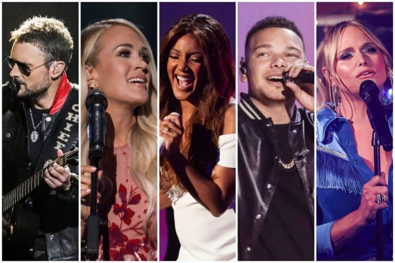 Eric Church, Carrie Underwood, Mickey Guyton, Kane Brown, Miranda Lambert