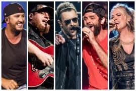 Luke Bryan, Luke Combs, Eric Church, Thomas Rhett, Carrie Underwood