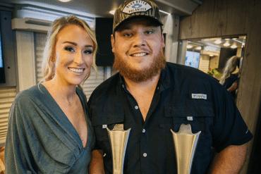 Luke Combs and wife, Nicole