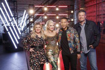 Kelly Clarkson, Gwen Stefani, John Legend, Blake Shelton