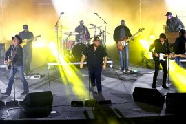 Luke Combs and Brooks & Dunn; Photo by Getty Images for CMT