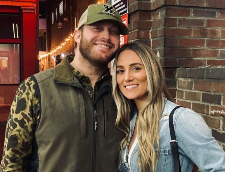 Jon Langston and girlfriend; Photo via Instagram