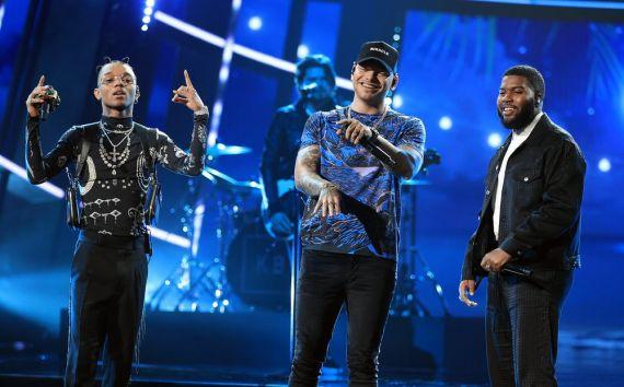 Swae Lee, Kane Brown, Khalid; Photo by: Christopher Polk/NBC