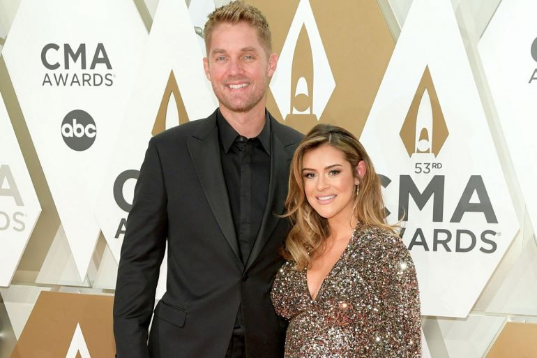 Brett Young and Wife, Taylor; Photo by Jason Kempin Getty Images