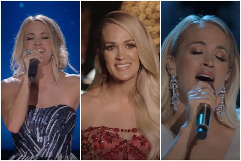 Carrie Underwood; Photos via YouTube