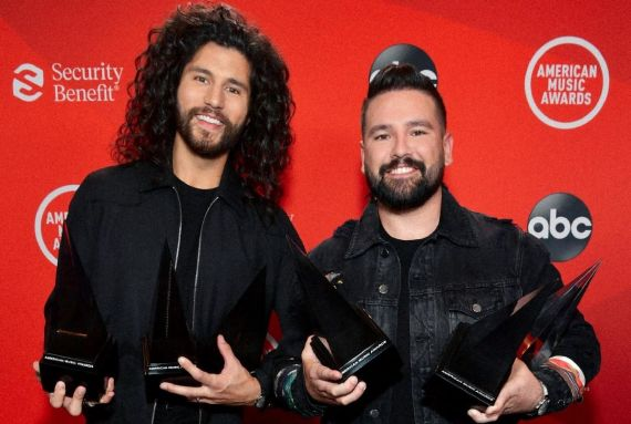 Dan + Shay; Photo by Emma McIntyre / AMA2020 / Getty Images for dcp