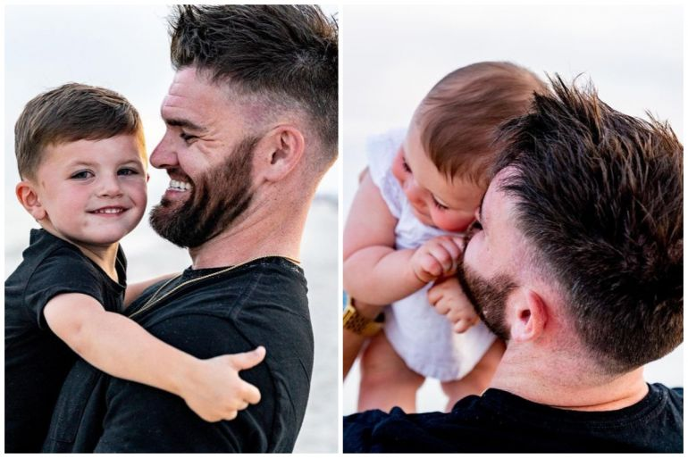 Dylan Scott and Children; Photos via Instagram