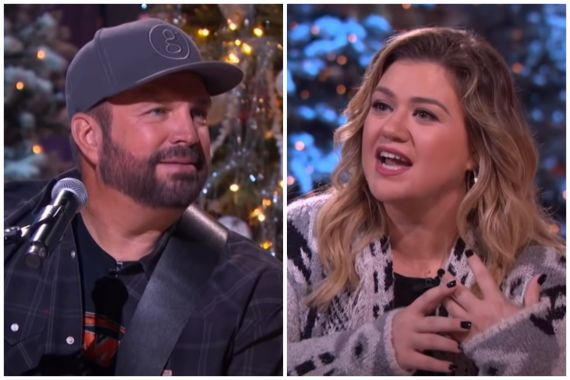 Garth Brooks, Kelly Clarkson; Photos via YouTube