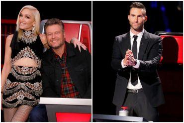 Gwen Stefani, Blake Shelton, Adam Levine; Photos Courtesy NBC
