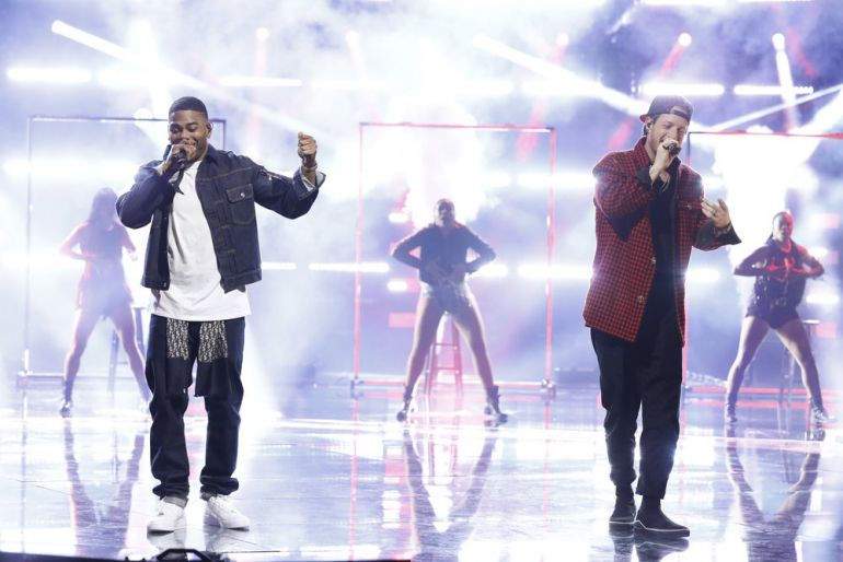 Nelly, Tyler Hubbard; Photo by: Trae Patton/NBC