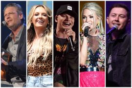 Blake Shelton, Carly Pearce, Kane Brown, Carrie Underwood, Scotty McCreery