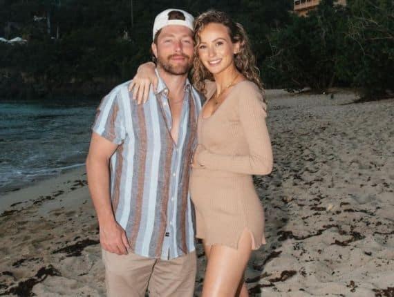 Chris Lane and Lauren Bushnell; Photo via Instagram