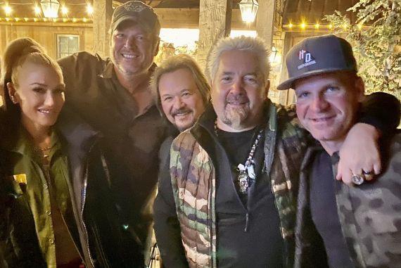 Gwen Stefani, Blake Shelton Travis Tritt, Guy Fieri, Clint Bowyer
