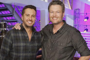 Luke Bryan, Blake Shelton; Photo by Trae Patton, NBC