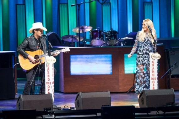 Brad Paisley and Carrie Underwood; Photo Courtesy Of NBC