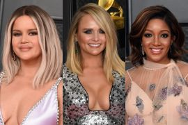 Maren Morris, Miranda Lambert and Mickey Guyton; Photo by Kevin Mazur/Getty Images for The Recording Academy