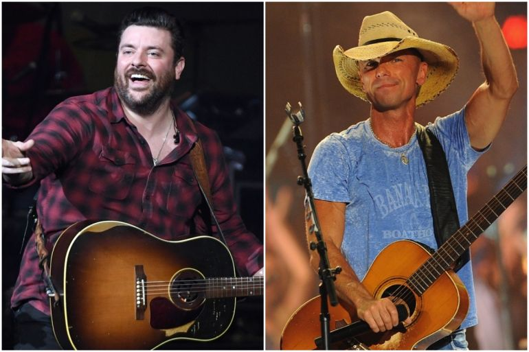 Chris Young; Photo by Ethan Miller/Getty Images, Kenny Chesney; Photo by Erika Goldring/Getty Images for CMT