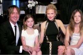 Keith Urban, Nicole Kidman and their two daughters, Faith Margaret Kidman Urban and Sunday Rose Kidman Urban