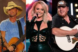 Kenny Chesney; Photo by Ethan Miller/Getty Images for dcp, Miranda Lambert; Photo by Kevin Winter/Getty Images, Luke Combs; Photo By Andrew Wendowski