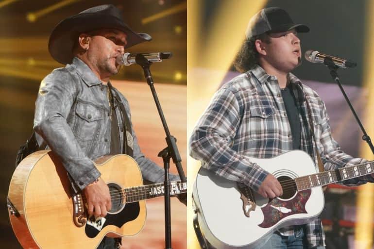 Jason Aldean and Caleb Kennedy; Photo Courtesy of ABC