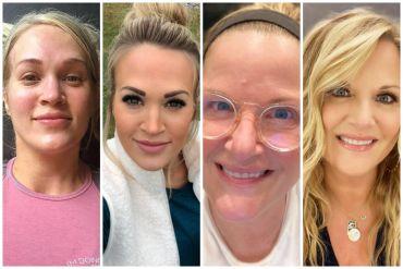 Carrie Underwood, Trisha Yearwood No Makeup