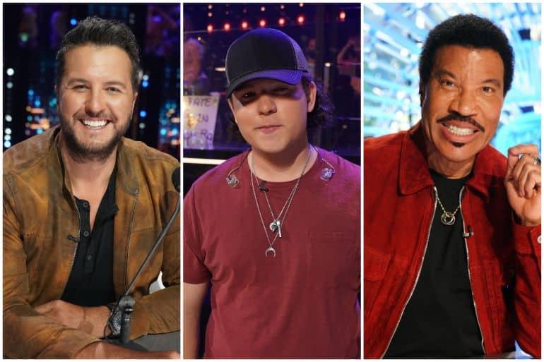 Luke Bryan, Caleb Kennedy, Lionel Richie; Photos via ABC, American Idol
