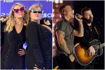 Miranda Lambert, Elle King; Photo by Getty Images for ACM, Kane Brown, Chris Young; Photo by Getty Images for CMT