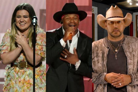 Kelly Clarkson, Jimmie Allen and Jason Aldean; Photos Courtesy Of Kennedy Center Honors/CBS