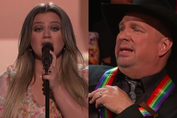 Kelly Clarkson and Garth Brooks; Photo Courtesy Screenshot Of CBS