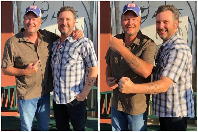 Blake Shelton and David Newton; Photos Courtesy Blake Nation
