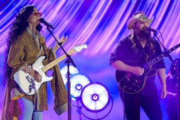 H.E.R. and Chris Stapleton; Photo by Getty Images for CMT