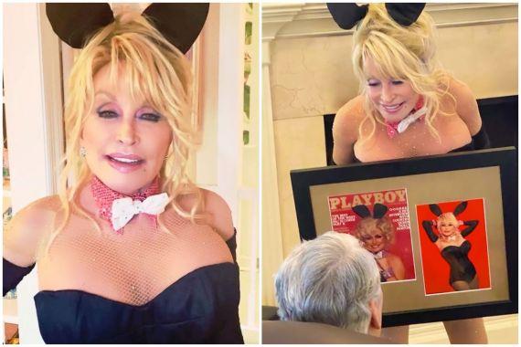 Dolly Parton Recreates Playboy Cover