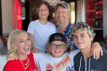 Blake Shelton, Gwen Stefani and Family; Photo via Instagram