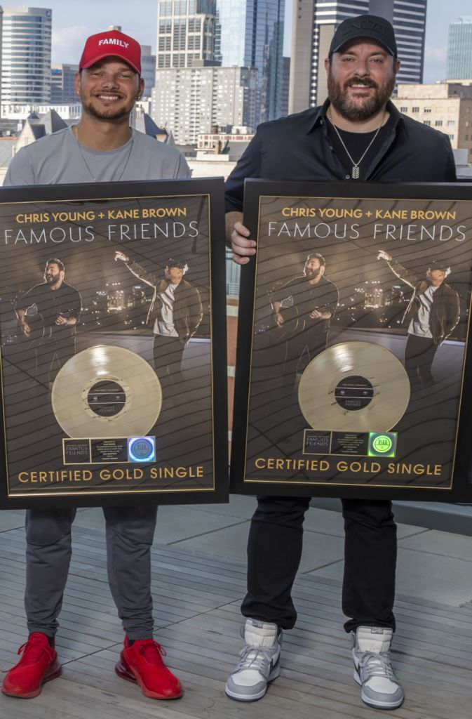 Chris Young and Kane Brown Famous Friends; Photo by Alan Poizner