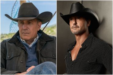 Kevin Costner; Photo Courtesy Yellowstone, Tim McGraw; Photo by Robby Klein